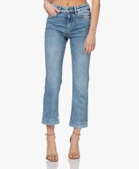 Drykorn Speak Straight Cropped Jeans - Middenblauw