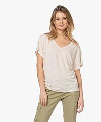 Josephine & Co Lette Linnen T-shirt - Zand