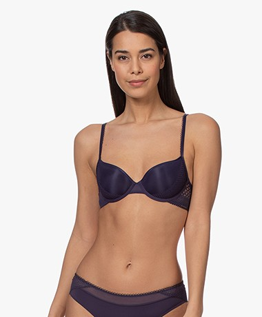 Calvin Klein Lightly Lined Demi Bra - Midnight Dragon