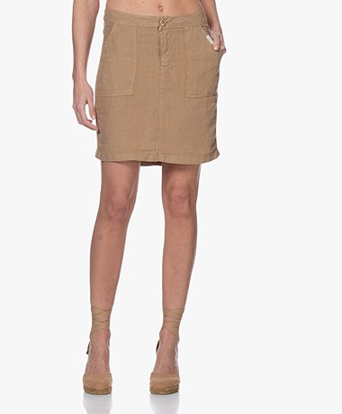 Josephine & Co Biek Linen Skirt - Coffee
