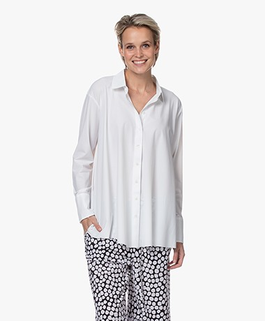 JapanTKY Milly Travel Jersey A-lijn Blouse - Panna