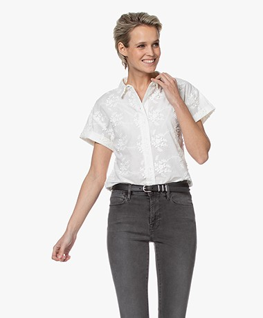 Marie Sixtine Inae Embroidered Short Sleeve Blouse - Optical