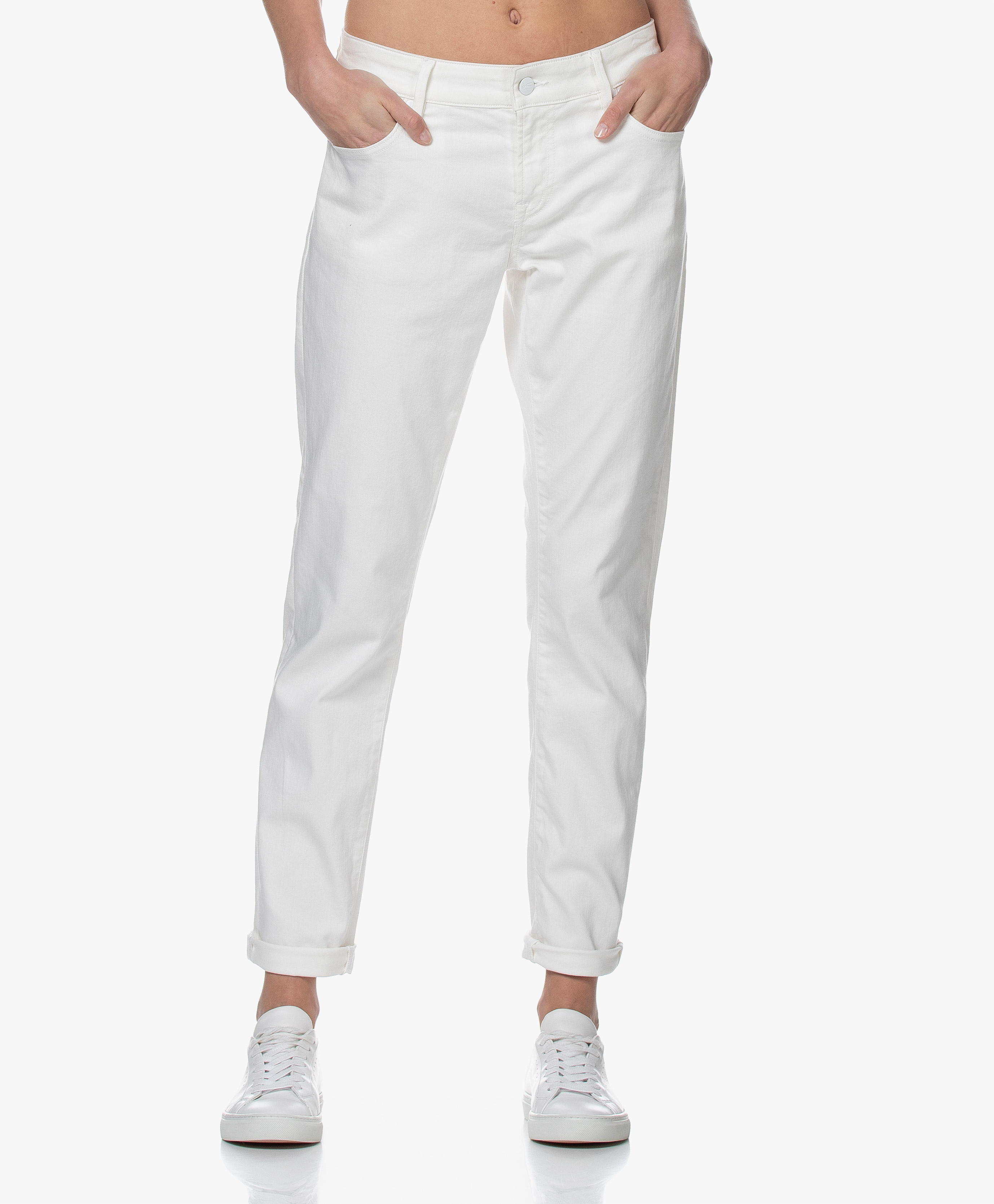 Denham Monroe FMW Girlfriend Fit Jeans Off white monroe
