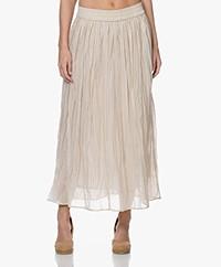 Josephine & Co Bowen Crinkle Cotton Maxi Skirt - Beige