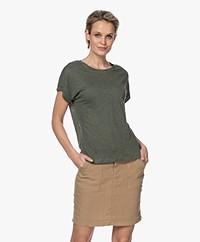 MKT Studio Tadour Linen T-shirt - Khaki