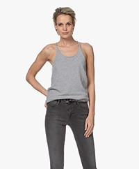 extreme cashmere N°58 Invisible Cashmere Tanktop - Grijs