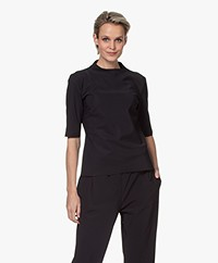 Woman By Earn Gera Tech Jersey Colshirt - Zwart