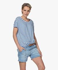Closed Striped Cotton T-shirt - Bluebird