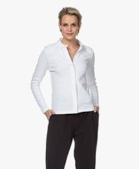 Belluna Valetta Cotton Jersey Blouse - White