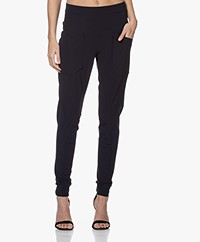 Woman by Earn Erin Tech Jersey Broek - Navy