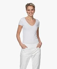 Majestic Filatures Super Washed V-Neck T-Shirt - White