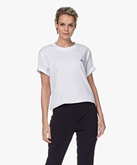 Closed Oversized T-shirt met Borduursel - Wit