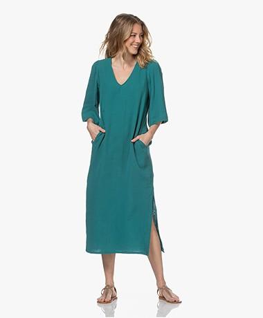 Shades Antwerp Olivia Cotton Muslin Dress - Turquoise