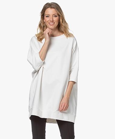 Woman by Earn Tom Long Oversized Sweatshirt - Off-white