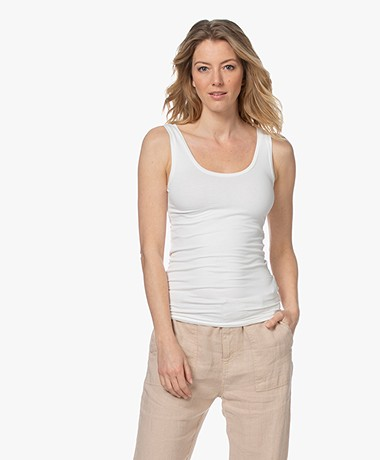 Majestic Filatures Soft Touch Jersey Tank Top - Milk