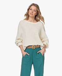 American Vintage Nizy Open Knit Sweater - Ecru
