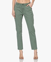 Denham Lea Katoenen Twill Broek - Laurel Wreath