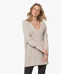 Sibin/Linnebjerg Daphne Long Viscose Blend Sweater - Sand