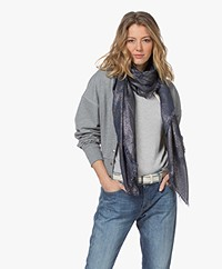 Zadig & Voltaire Kerry Lurex Leo Scarf - Night