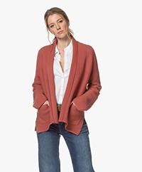Repeat Open Cotton Shawl Collar Cardigan - Cinnamon