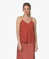 JapanTKY Tanka Travel Jersey Spaghetti Strap Top - Red Brique