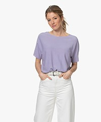 Drykorn Someli Cotton Short Sleeve Sweater - Lilac