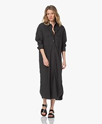 By Malene Birger Einadia Cotton Poplin Shirt Dress - Black