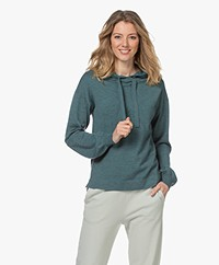 Plein Publique Le Hoodie Merino Blend Knitted Sweater - Foggy Green