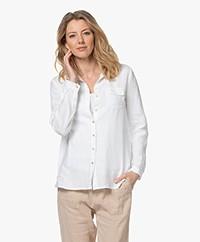 Belluna Nima Linen Blouse - White