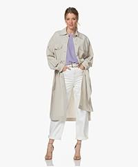 Drykorn Timbi Linen Blend Long Blazer Jacket - Beige