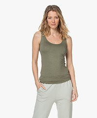 Majestic Filatures Abby Soft Touch Jersey Tank Top - Khaki