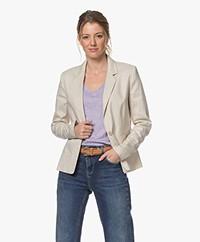 Drykorn Selsey Tailored Linen Blend Blazer - Beige