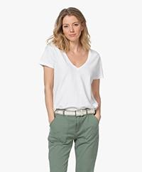 Denham Ramona Slub Jersey T-shirt - Wit