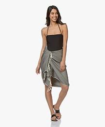 Calvin Klein Strapless Bandeau Badpak - Zwart