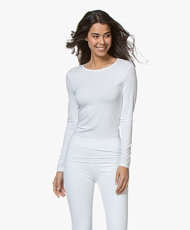 Hanro Soft Touch Modal Long Sleeve - White