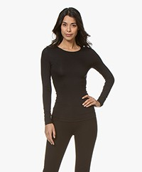 Hanro Soft Touch Modal Long Sleeve - Black
