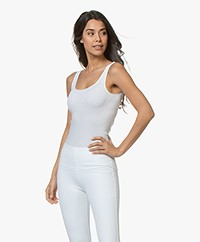 HANRO Cotton Seamless Tank Top - White