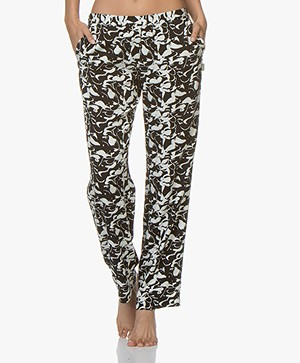 Calvin Klein Printed Pajama Pants - Black//Off-white