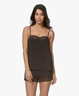 Calvin Klein CK Black Jersey Camisole met Zijde - Zwart