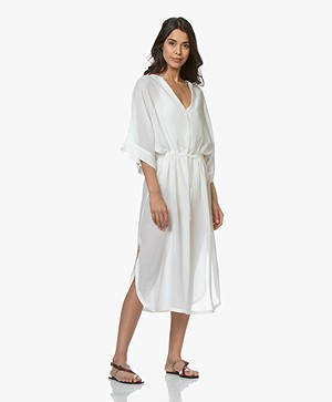 Filippa K Soft Sport Drawstring Beach Kaftan - Off-white