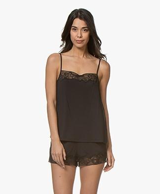 c5ac78935 Calvin Klein CK Black Jersey Camisole with Silk - Black