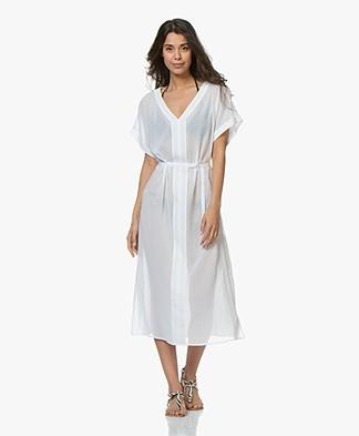 Calvin Klein Cotton Voile Kaftan - White