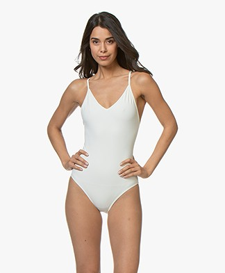 Filippa K Soft Sport Cross-back Badpak - Off-white