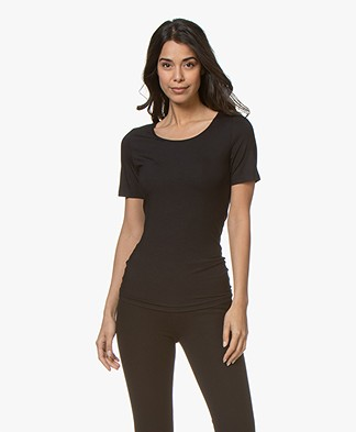 Hanro Soft Touch Modal T-shirt - Black