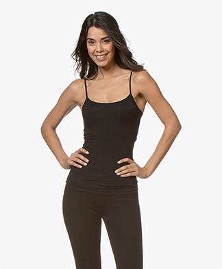 HANRO Soft Touch Modal Spaghetti Strap Top - Black