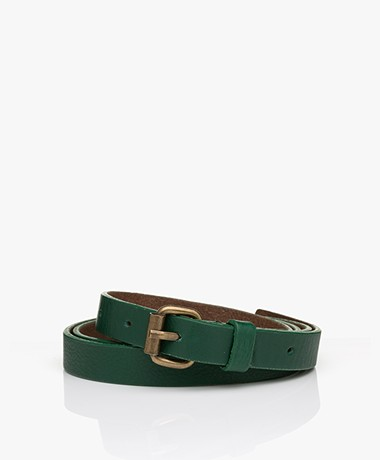 by-bar Julie Rosa Leather Belt - Agave