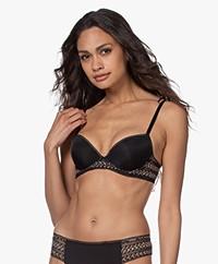 Calvin Klein Mesh Lift Demi BH - Zwart