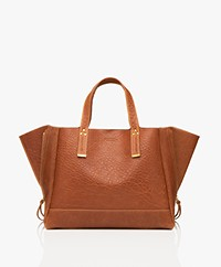 Jerome Dreyfuss Georges M Lamb Leather Tote Bag - Camel