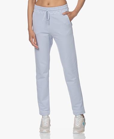 no man's land Cotton French Terry Sweatpants - Pale Blue