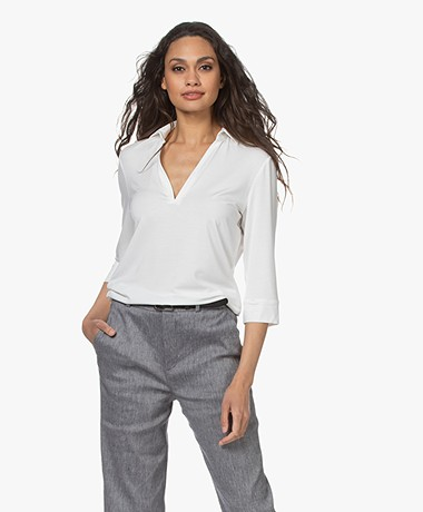 LaSalle Lyocell Polo T-shirt - Panna
